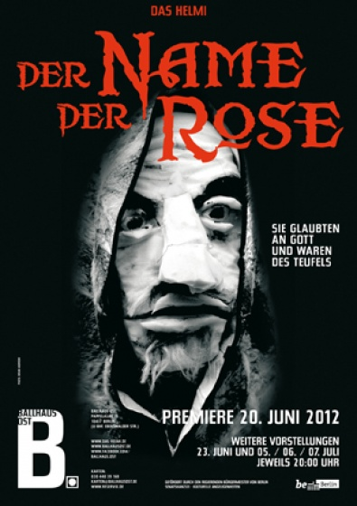 Der Name der Rose by Helmi Puppentheater, thursday 7.02 and friday 8.02, 20:00 in Ballhausost Berlin.
