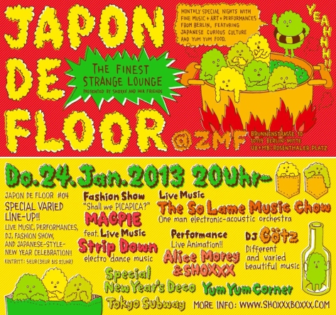 The So Lame Music Show Live on Stage @ Japon de Floor sat 24.01.2013